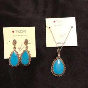 Matching marcasite earrings and necklace